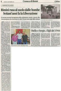 70° Corriere 18 settembre 2014