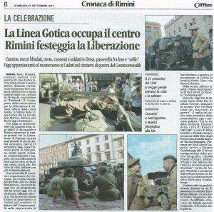 70° Corriere 21 settembre 2014