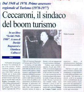 Articolo su libro Ceccaroni. La Piazza luglio 2013
