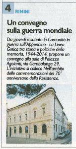 Convegno Linea Gotica RDC 18.11.2014