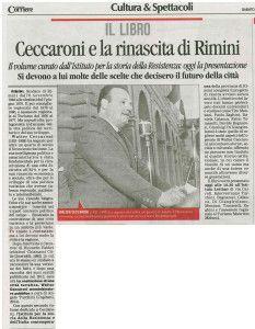 Corriere 10 maggio presentazione libro Ceccaroni