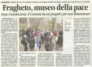 Corriere di Rimini 15 ottobre 2014 Fragheto