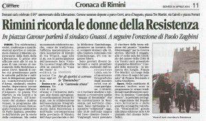 Corriere di Rimini 24 aprile 2014