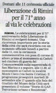 Il Corriere di Rimini 20.9.2015