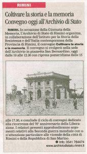 Il Corriere di Rimini 31.1.2015