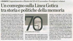 La voce 1 novembre 2014 Convegno Linea Gotica