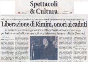 Nuovo Quotidiano 20 settembre 2013