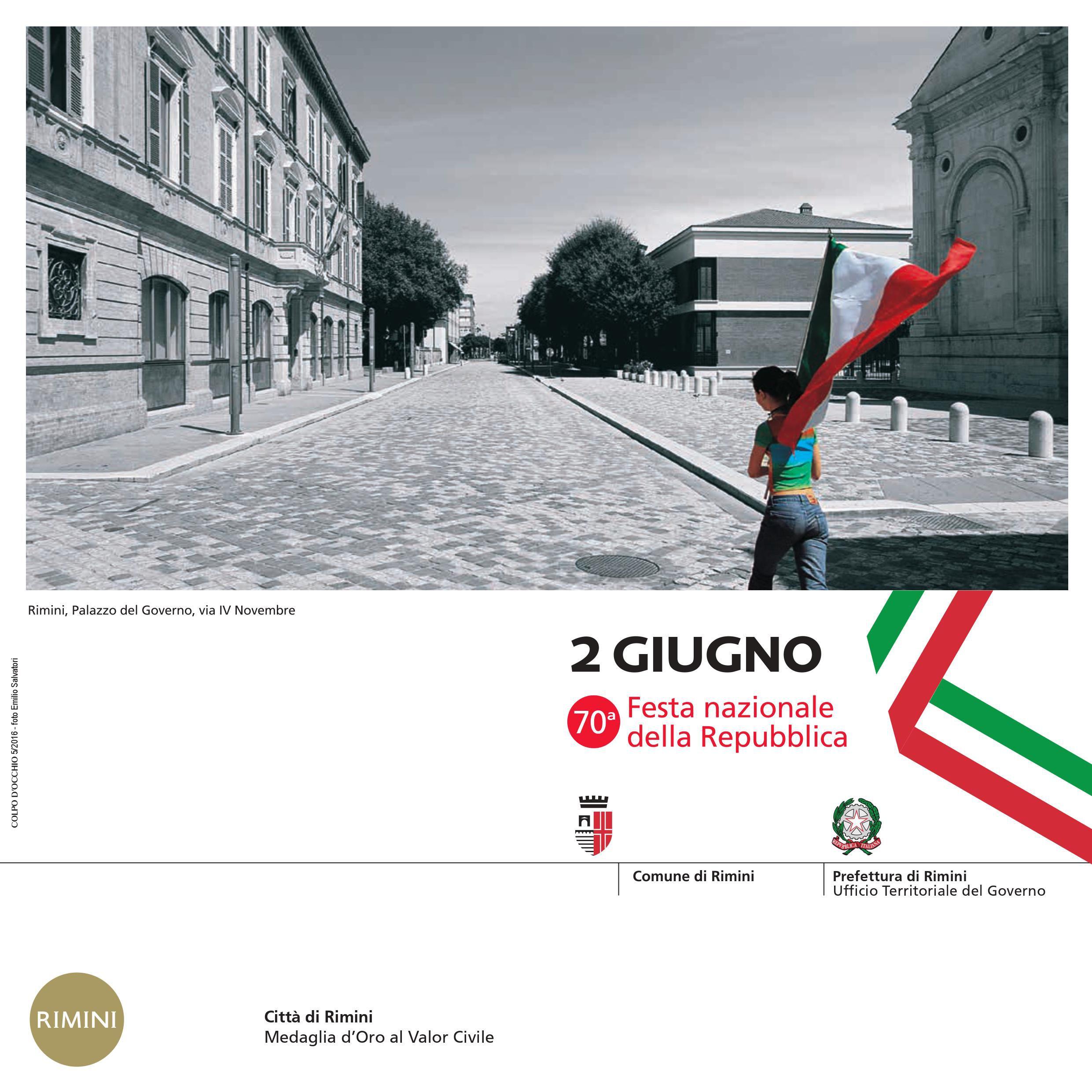 Iniziative in occasione del 70° anniversario della Repubblica italiana