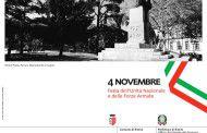 4 novembre, Festa dell'Unita' Nazionale e delle Forze Armate