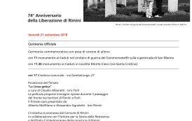 21 settembre 2018 - 74° anniversario della Liberazione di Rimini