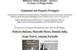13 ottobre 2018 - Seminario sul progetto Predappio