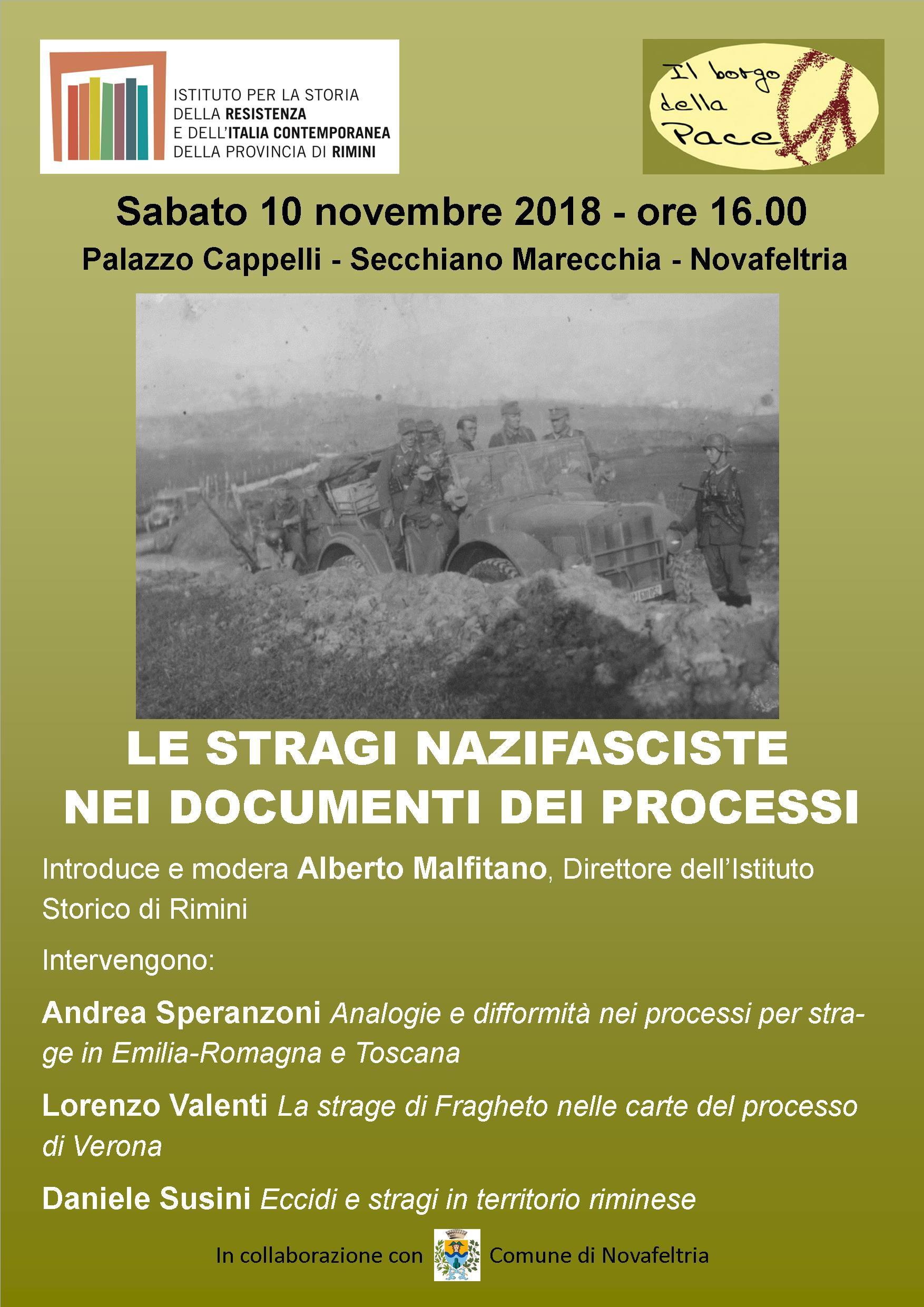 10 Novembre 2018 - Le Stragi Nazifasciste nei Documenti dei Processi
