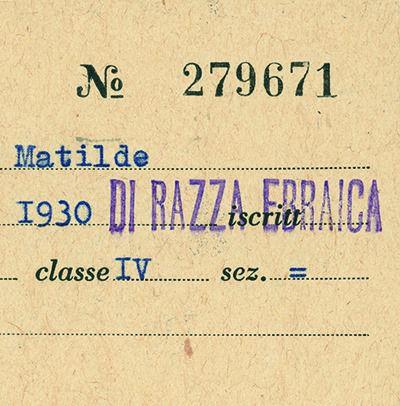 1938-1945. La persecuzione degli ebrei in Italia