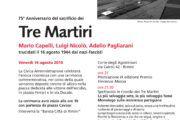 16 agosto 2019 - Commemorazione dei Tre Martiri